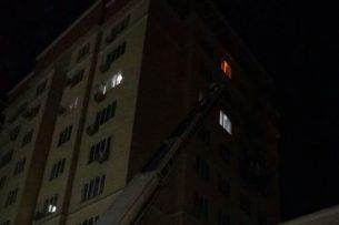 В Бишкеке во время ночного пожара в многоэтажке никто не пострадал