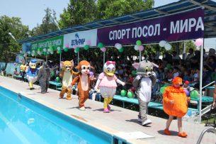 В Оше к Международному дню защиту детей состоялось открытие плавательного сезона