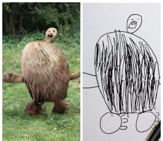Талантливый отец «оживил» рисунки своего сына и взорвал Инстаграм