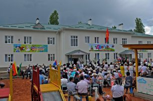 В Алайском районе открыли 120-местный детский сад