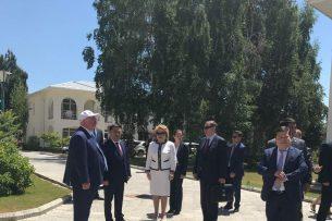 Начался рабочий визит Валентины Матвиенко в Иссык-Кульскую область Кыргызстана