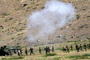 На кыргызско-китайской границе прошли антитеррористические учения «Тянь-Шань-3»