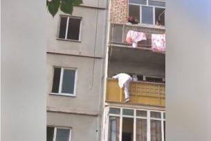 В Джале женщина пыталась выпрыгнуть с балкона