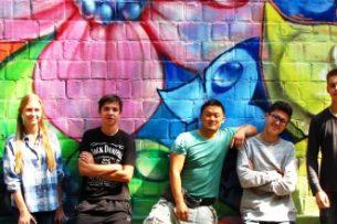 Граффитисты арт-группы BASICOLORS украсили еще один дом в Бишкеке