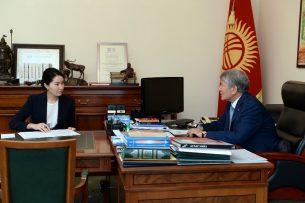 Генпрокурор рассказала Алмазбеку Атамбаеву о подготовке к выборам президента