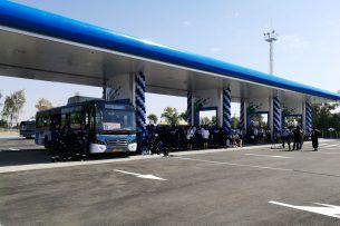 В Бишкеке открылась первая эко-заправка «Газпром»