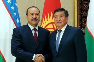 Сооронбай Жээнбеков: Развитие добрососедских отношений с Узбекистаном – один из приоритетов внешней политики нашей страны
