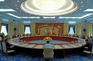 Состав делегаций на заседании Межправительственной комиссии по двустороннему сотрудничеству между Кыргызстаном и Узбекистаном