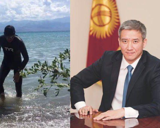 Кыргызстанец переплыл Иссык-Куль: 15,1 км от южного до северного берега