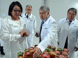 Алмазбек Атамбаев посетил завод по производству консервированных фруктов и овощей