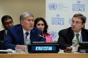 Алмазбек Атамбаев на спецсовещании ПРООН: Мы добились энергетической независимости
