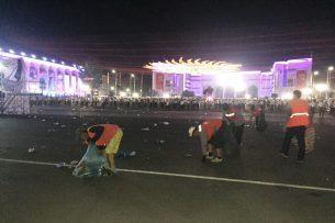 В Бишкеке после празднования Дня независимости КР вывезли 48 кубометров мусора