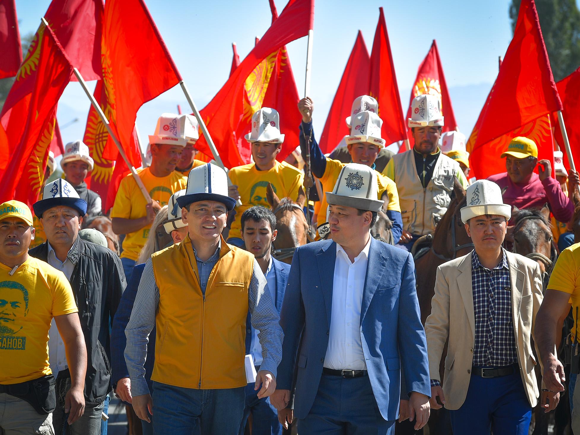 Нурсултан Назарбаев встретился скандидатом впрезиденты Кыргызстана Омурбеком Бабановым