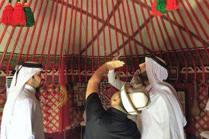 Кыргызская юрта очаровала жителей Катара