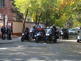 В Бишкек прибыли российские байкеры «Ночные волки»