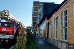 В микрорайоне «Асанбай» крупный пожар (видео)