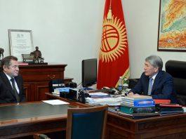 Алмазбек Атамбаев принял советника президента России Сергея Глазьева