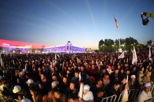 На концерт в поддержку Сооронбая Жээнбекова пришли более 10 тысяч жителей Бишкека