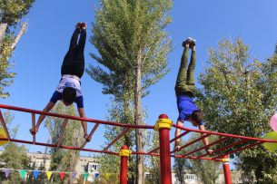В Бишкеке открылась Workout-площадка