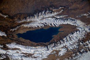 Космонавт показал, как выглядит Иссык-Куль из космоса