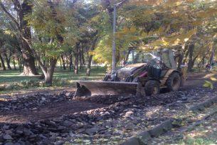 В Бишкеке продолжается реконструкция парка имени Ю.Фучика