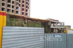 В Бишкеке обвалилось строящееся здание: шестеро пострадавших (фото, видео)