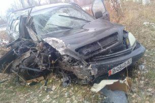 На трассе Бишкек-Торугарт Lexus врезался в дерево (фото)