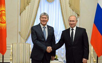 Президент Алмазбек Атамбаев встретился с российским коллегой Владимиром Путиным