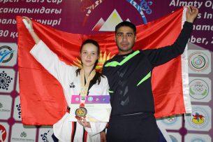 Таэквондистка из Кыргызстана завоевала бронзовую медаль на международном турнире в Алматы