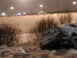 Возле этнокомплекса «Супара» машина вылетела в кювет, есть пострадавшие