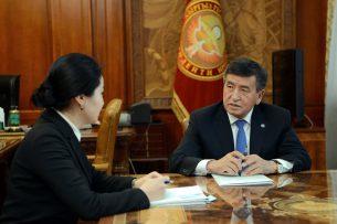 Генпрокурор рассказала президенту Жээнбекову о борьбе с коррупцией в госорганах