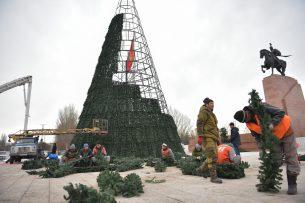 Главную елку на площади Ала-Тоо зажгут 15 декабря