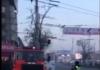 В Бишкеке из-за проезда кортежа не пропустили пожарную машину (видео)