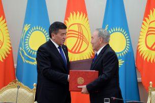 Жээнбеков: Граница между Кыргызстаном и Казахстаном будет воротами доверия, добрососедства и взаимовыгодного сотрудничества
