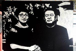 Кыргызский художник создал необычный портрет из муки