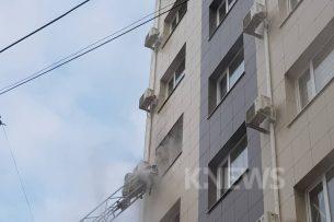Подросток, выпрыгнувший с пятого этажа во время пожара в Бишкеке, скончался — ГУВД