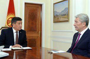 Нас связывают неразрывные узы родства: Жээнбеков принял посла Казахстана в КР