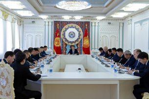 Сооронбай Жээнбеков обсудил с секретариатом Совета безопасности дальнейшие меры по борьбе с коррупцией