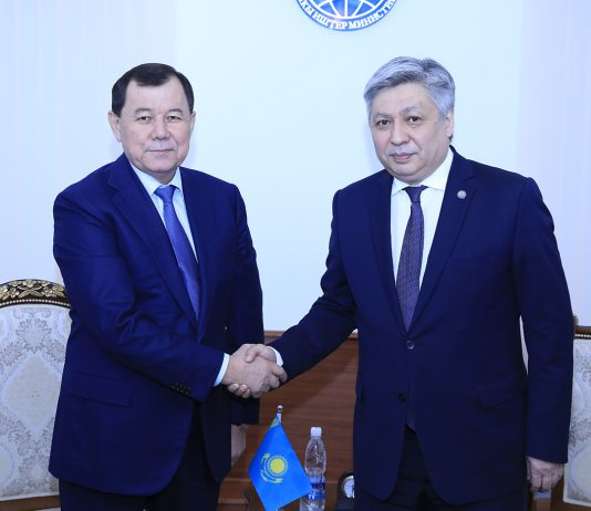 Новый посол Казахстана в Кыргызстане вручил копии Верительных грамот главе МИД Абдылдаеву