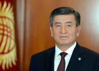 Президент Кыргызстана выступает в Жогорку Кенеше