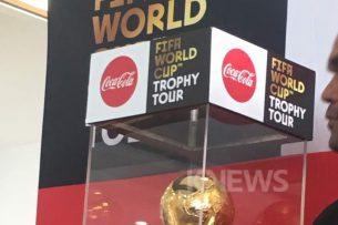 Кубок мира по футболу пробыл в Кыргызстане всего три часа (фото, видео)
