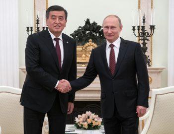 Сооронбай Жээнбеков поздравил Владимира Путина с победой на выборах президента России