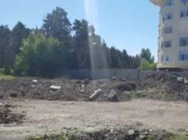 Бишкекчанин жалуется на тонны строительного мусора в парке имени Ататюрка