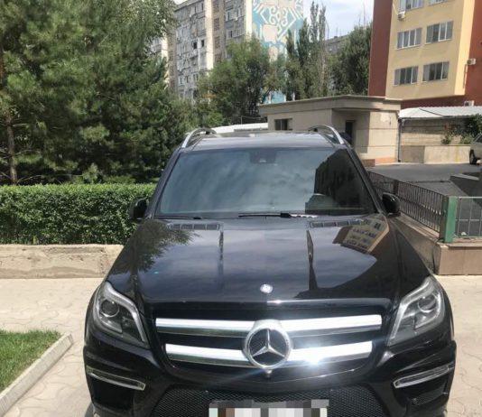 В Бишкеке сотрудники финансовой полиции задержали «Mercedes-Benz GL500», ввезенную в страну по поддельным документам