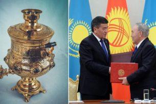 Жээнбеков подарил Назарбаеву 100-летний самовар