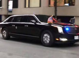 Новый лимузин Дональда Трампа впервые показали на видео