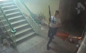 Видео момента нападения керченского убийцы: стрелял в спины беззащитным детям (18+)