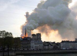 Собор Парижской богоматери почти уничтожен пожаром