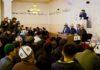Экс-президент Алмазбек Атамбаев принял участие в открытии мечети «7-апрель шейиттер мечити»