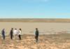Казахстан: В безводной степи неожиданно образовалось озеро